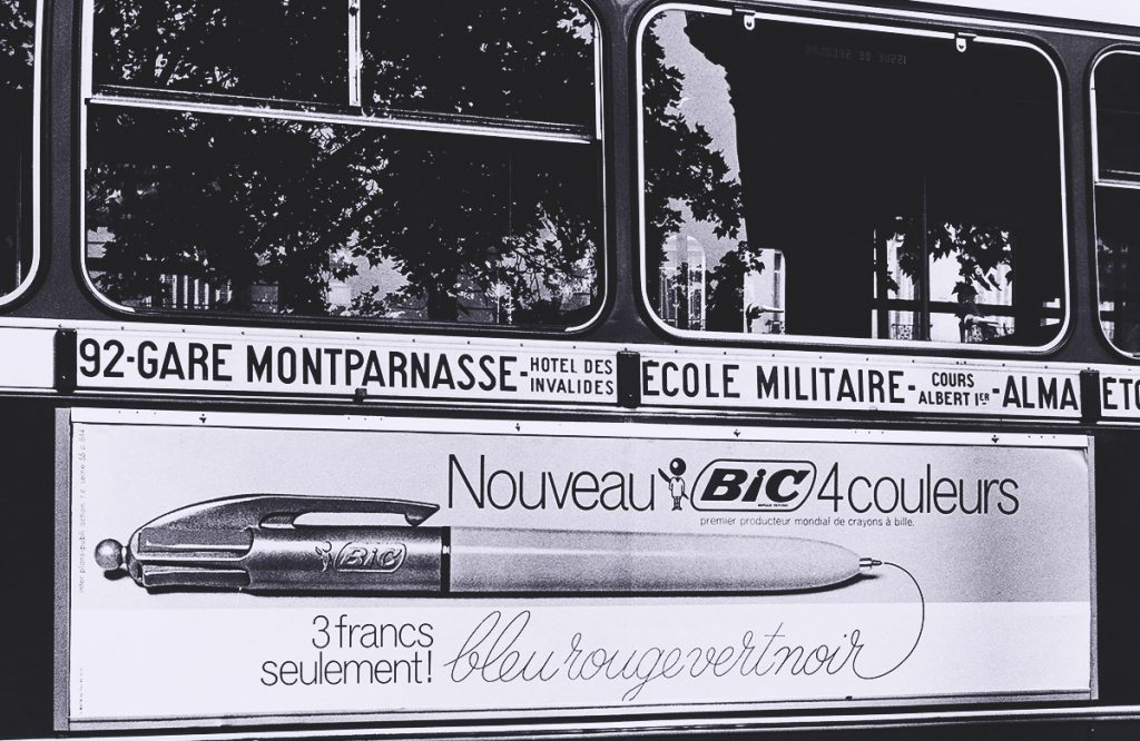 French Bic 4 Color Pen Ad